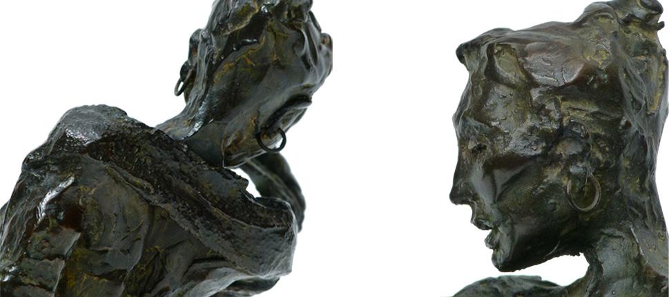 détails - bronze - 28x22x16cm