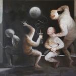 Il a vu la lune - 2015 - huile sur toile 100x81cm