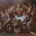 La maternité - 2011 - huile sur toile 81x65cm