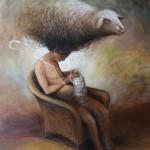 Le tricot - 2012 - huile sur toile 65x81cm