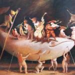 Le voyage de Paul - 2012 - huile sur toile 73x54cm