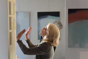 Installation avec l'artiste