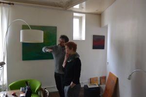 Installation avec l'artiste et Michel Carmona pour les lumières