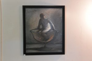 Dans un verre - 2013 - huile sur toile 38x40cm