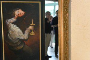 La tête à l'envers - 2015 - huile sur toile 33x50cm  (avec  explications de l'artiste)