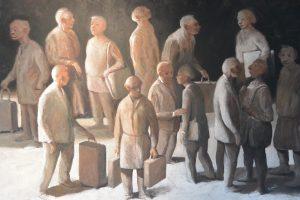 Sur le quai - 2016 - huile sur toile 116x81cm