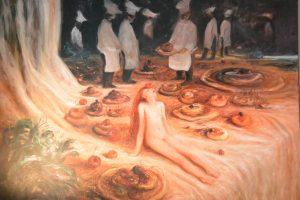 La cerise - 2013 - huile sur toile  81x54cm