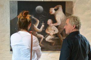 Il a vu la lune - 2015 huile sur toile 100x81cm  (avec explications de l'artiste)