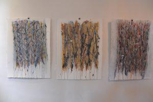 les Pinus Ponderosa - technique mixte sur papier - 74x56