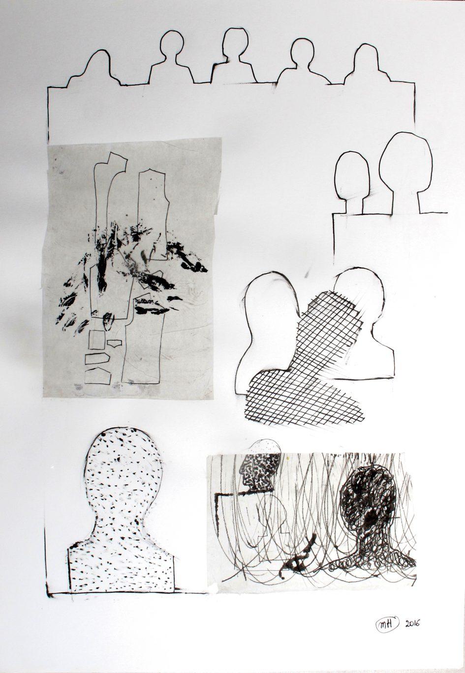 sans titre  2016 encre de chine sur papier 59,4x42cm