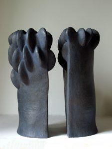 Arbres timides - céramique - H 57cm