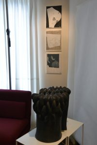 Sans titre Technique mixte/toile 35x27cm -  Arbres timides  céramique  H 100cm