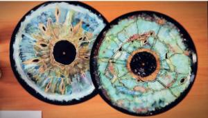Vinyles peints, 2016 Vinyle, peinture