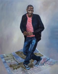 Djaba, 2017 162 x 130cm, huile sur toile