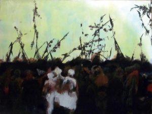 Carnaval sauvage, 2017 Acrylique, craies sèches 61 x45,5 cm