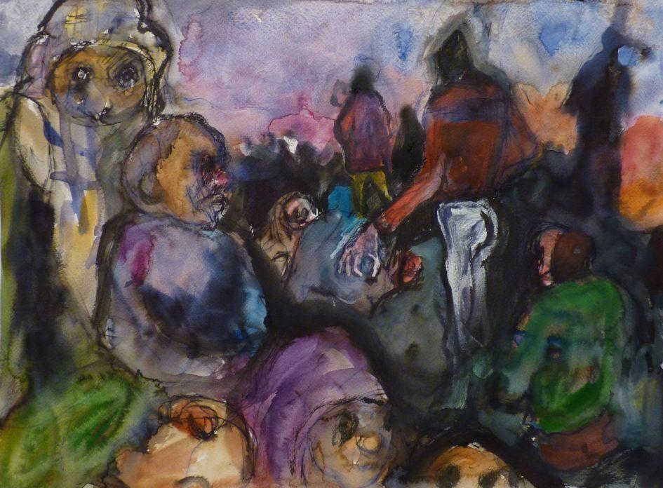 Sans titre, aquarelle et encre sur papier, 30x40cm, 2017