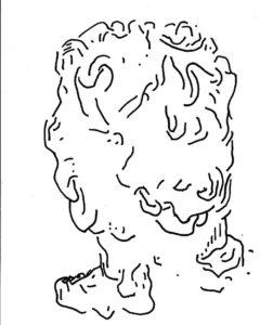 Crohniques (extrait), 2017, feutre, 48x105 cm