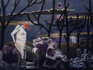 4 l'hiver, les amours à leur fin, 146x196cm, acrylique sur toile, 2016