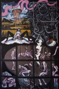 le mâle mis à muer, acrylique sur toile, 116x178 cm, 2013