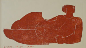 gravure sur bois - 1985 - 17x30 cm