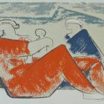 Les montagnes -  sérigraphie - 33,5x38 cm - 1994