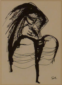 croquis - encre- 19x13,5 cm